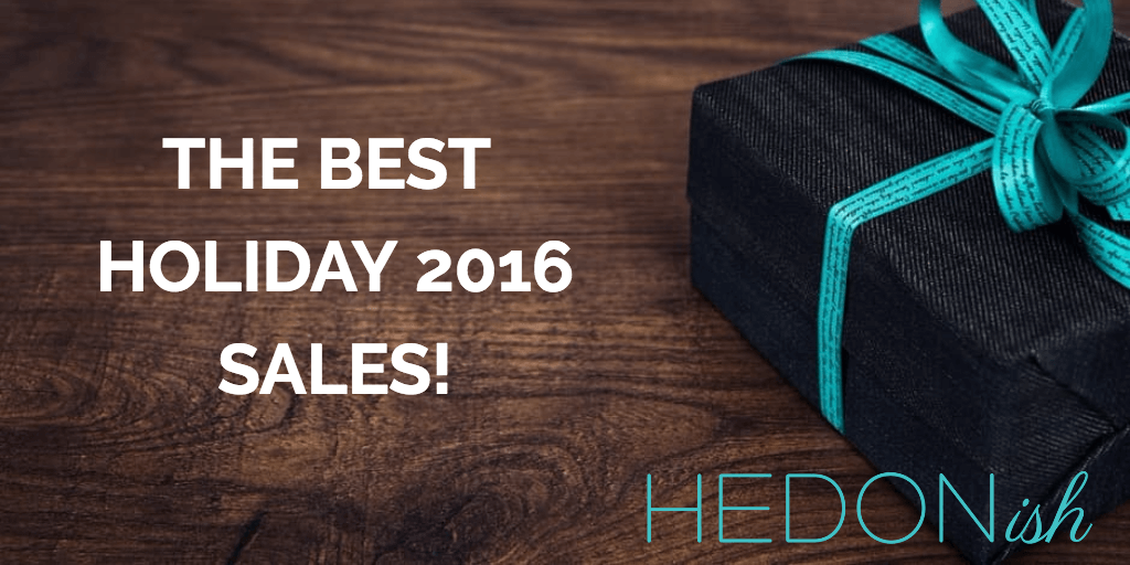 Hedonish's Holiday 2016 Sales Pinterest Page