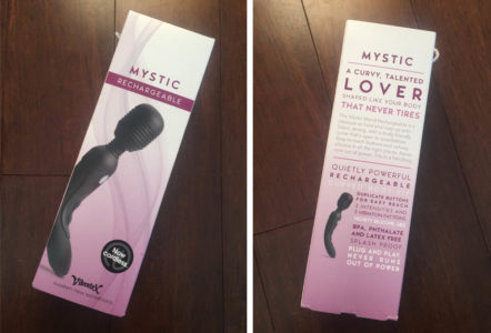Vibratex Mystic Wand Rechargeable Review - Packing Close Up - Hedonish.com